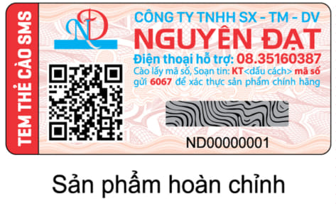 In tem SMS kết hợp QR code